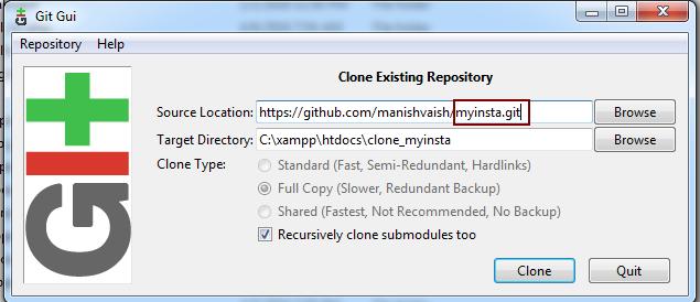 clone myinstal