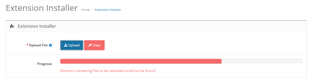 opencart directory not found error