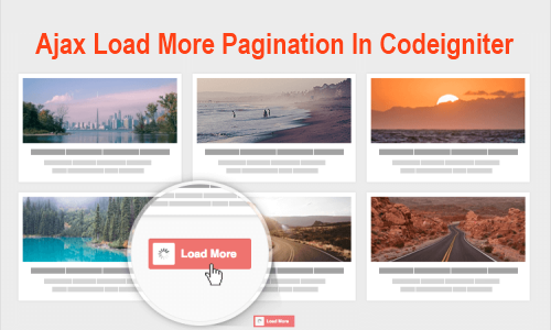 AJAX Pagination in Codeigniter