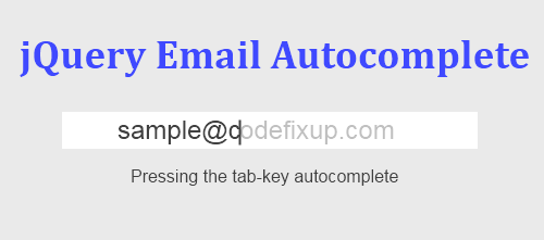 jquery email autocomplete