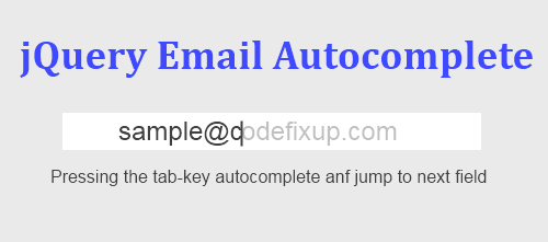 How to Use jQuery Email Autocomplete in HTML Form