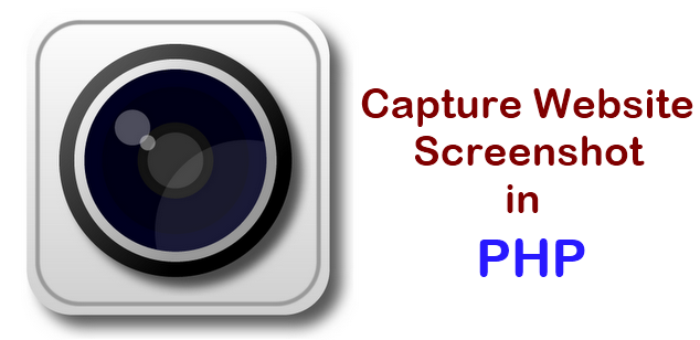 capture website screenshot using php