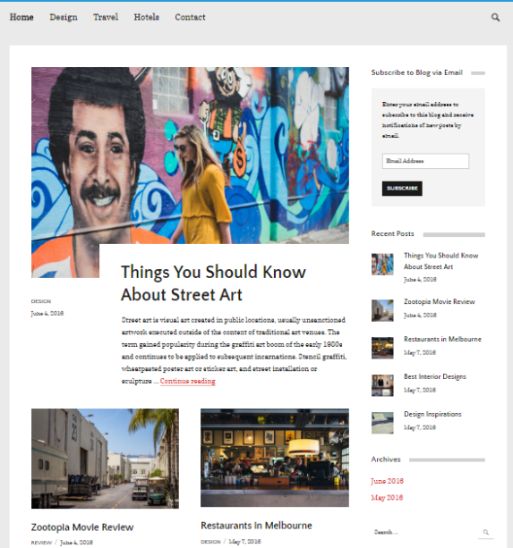 keran wordpress theme