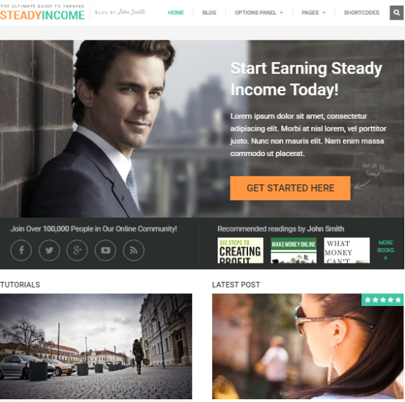 steadyincome wordpress theme