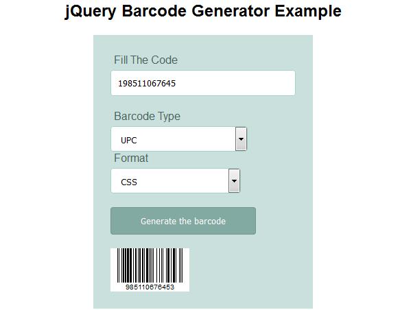 barcode generator