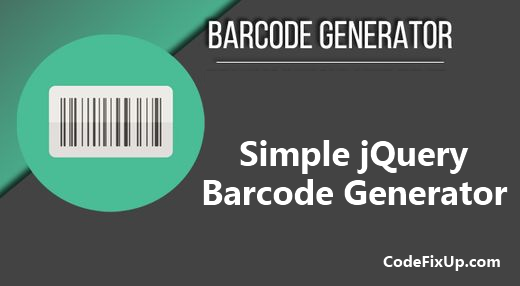 jQuery Barcode Generator