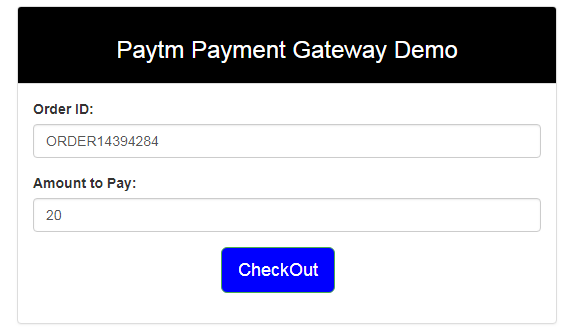 Paytm Payment Gateway Integration in PHP : Step by Step