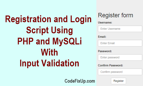 Registration and Login Script in PHP