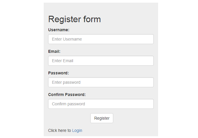 registeration form